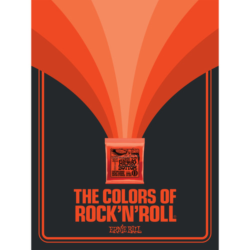 Ernie Ball The Colors of Rock'N'Roll Skinny Top Heavy Bottom Slinky Poster