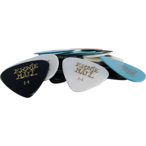 Ernie Ball Bag of 24 Heavy Picks (Assorted Colors)