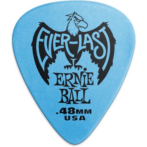 Ernie Ball Everlast Electric Guitar Picks (.48mm, Blue, 12-Pack)
