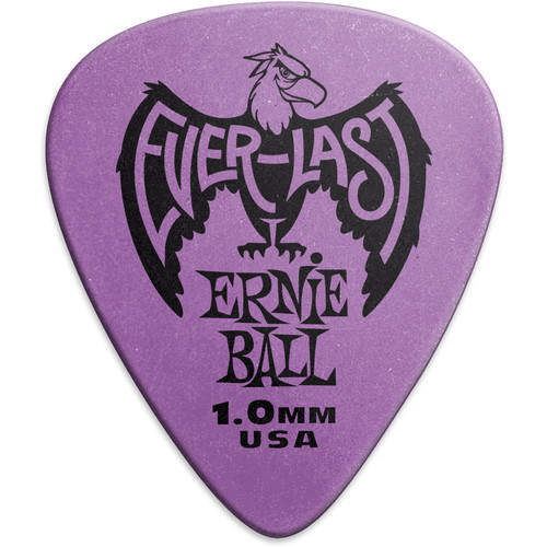 Ernie Ball Everlast Electric Guitar Picks (1.0mm, Purple, 12-Pack)