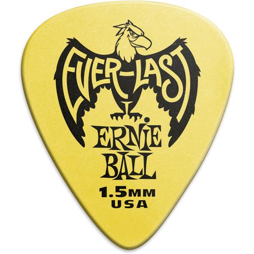 Ernie Ball Everlast Electric Guitar Picks (1.5mm, Yellow, 12-Pack)