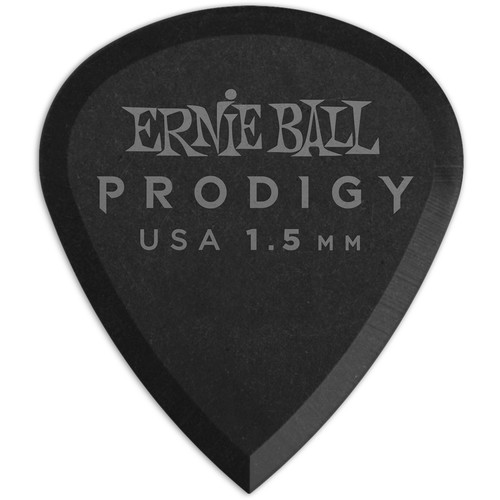 Ernie Ball Mini Prodigy Electric Guitar Picks (1.5mm, Black, 6-Pack)