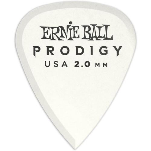 Ernie Ball Standard Prodigy Electric Guitar Picks (2.0mm, White, 6-Pack)