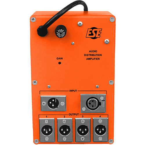 ESE Audio Distribution Amplifier with 4 XLR Outputs and UL Power Supply