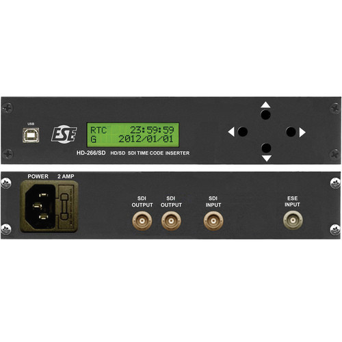 ESE HD-266/SD/1/P2/UL SDI Side-by-Side Rack Mount Timecode Inserter