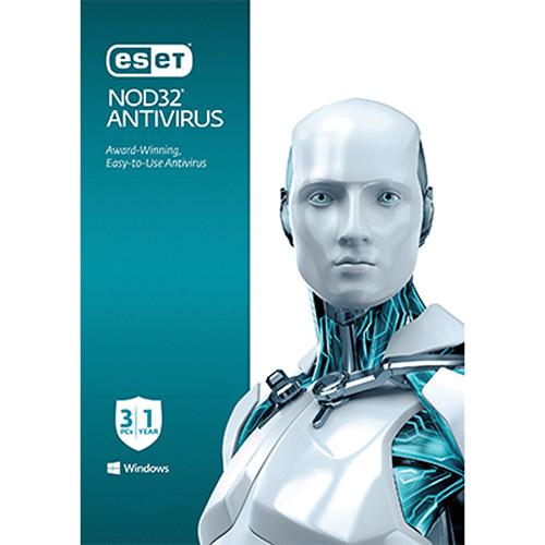 ESET NOD32 Antivirus (3-PCs, 1-Year, Download)