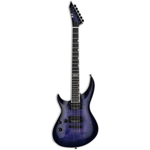 ESP E-II Horizon-III FM Electric Guitar (Left-Handed, Reindeer Blue)