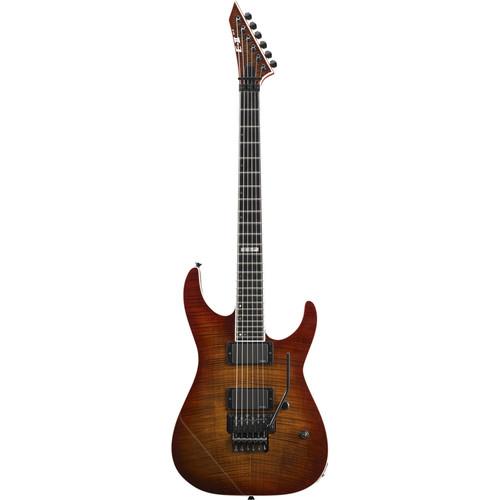 ESP E-II M-II FM Electric Guitar (Amber Cherry Sunburst)