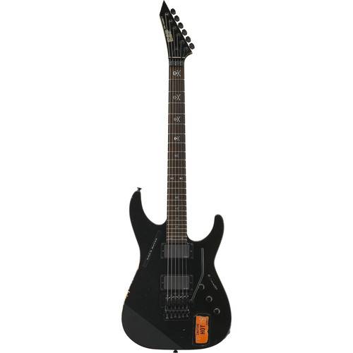 ESP KH-2 VINTAGE Kirk Hammett Signature Series Electric Guitar (Distressed Black)