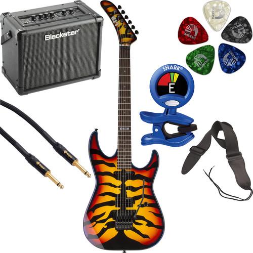 ESP ESP LTD GL-200SBT George Lynch Signature Series Electric Guitar Starter Kit (Sunburst Tiger Graphic)