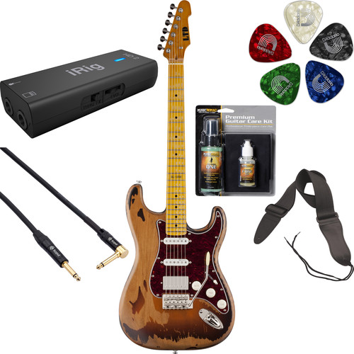 ESP ESP LTD GL-256 George Lynch Signature Series Electric Guitar Home Recording Starter Kit
