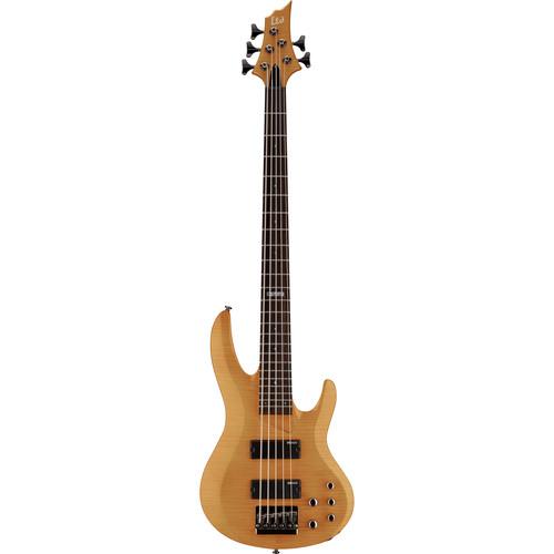 ESP LTD B-155DX 5-String Electric Bass (Honey Natural)
