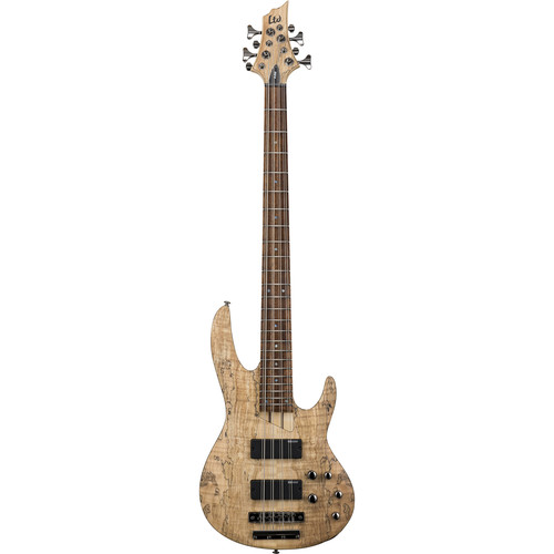 ESP LTD B-208SM 8-String Electric Bass (Spalted Maple, Natural Satin)