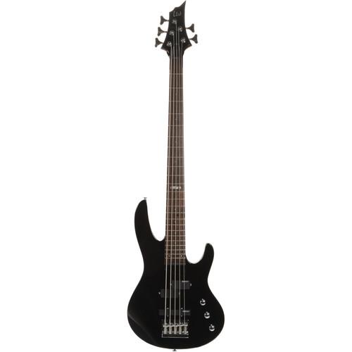 ESP LTD B-55 5-String Electric Bass (Black)