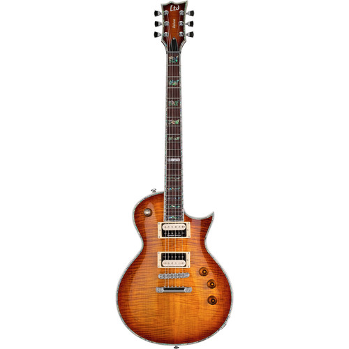 ESP LTD EC-1000FM Electric Guitar (Amber Sunburst)