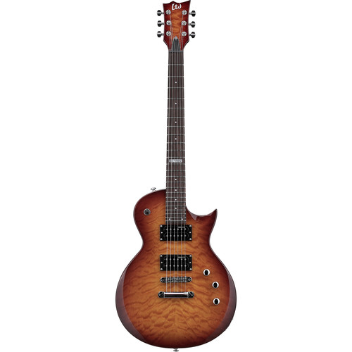 ESP LTD EC-100QM Electric Guitar (Faded Cherry Sunburst)