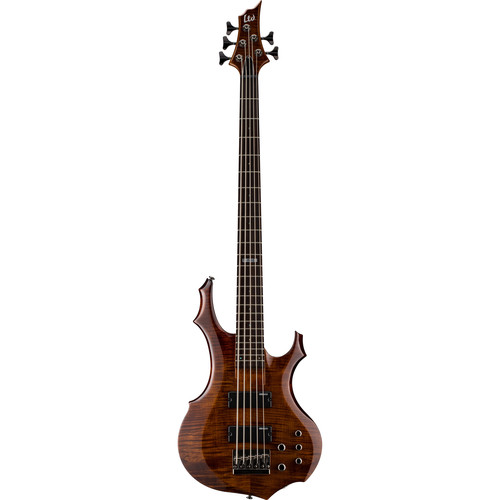 ESP LTD F-155DX 5-String Electric Bass (Walnut Brown)