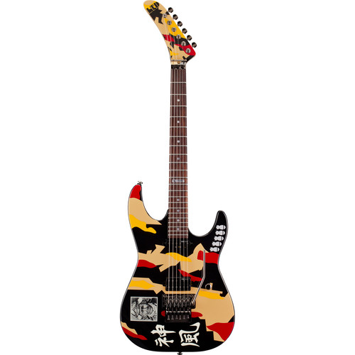 ESP LTD GL-200K George Lynch Signature Series Electric Guitar (Black with Kamikaze Graphic)