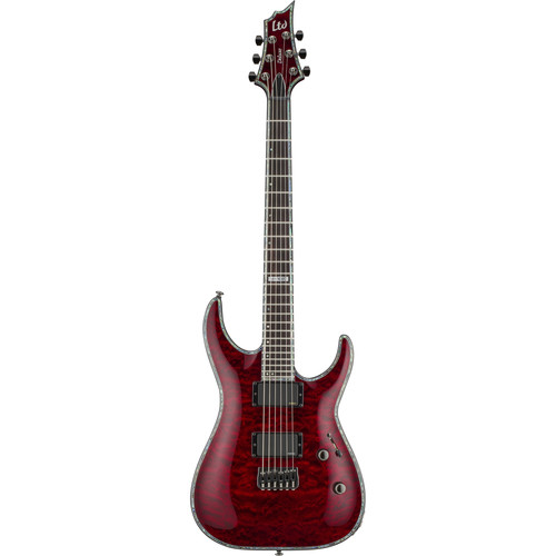 ESP LTD H-1000QM Electric Guitar (See-Thru Black Cherry)