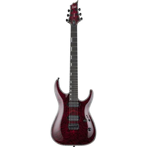 ESP LTD H-1001 Electric Guitar with Duncans (Qulited See-Thru Black Cherry)