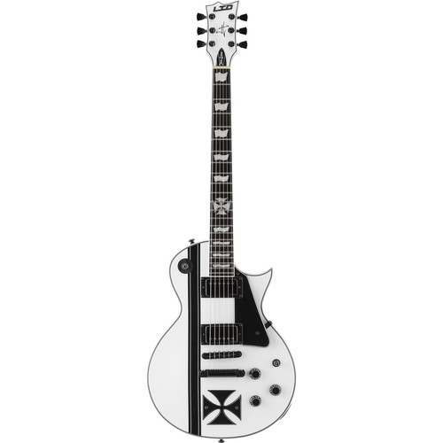 ESP LTD Iron Cross James Hetfield Signature Series Electric Guitar (Snow White)