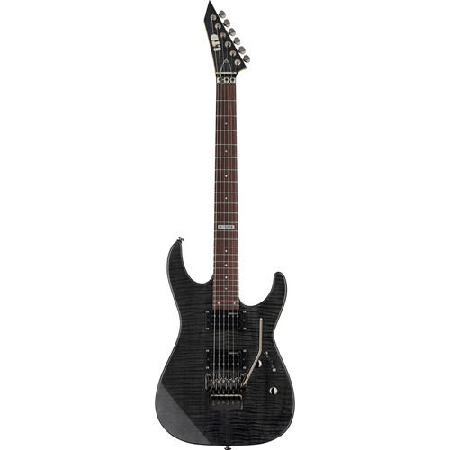 ESP LTD M-100FM Electric Guitar (See-Thru Black)