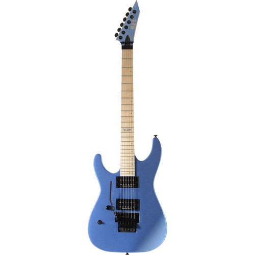 ESP LTD M-400M Electric Guitar (Left-Handed, Blue Chrome Metallic)