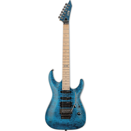 ESP LTD MH-103QM Electric Guitar (See-Thru Blue)