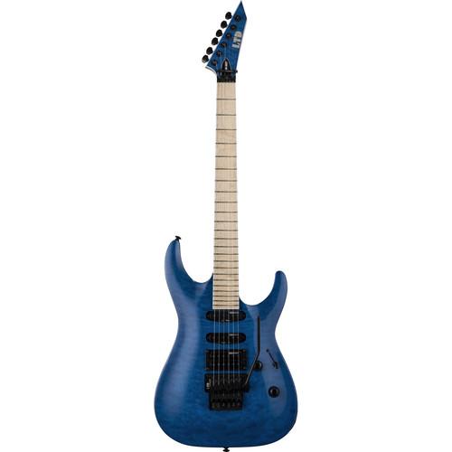 ESP MH-203QM LTD MH-Series Electric Guitar (See Thru Blue)