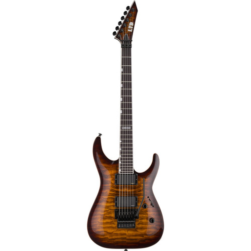 ESP LTD MH-401FR Electric Guitar (Dark Brown Sunburst)