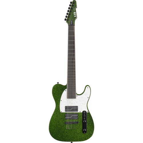 ESP LTD SCT-607 Stephen Carpenter Baritone Electric Guitar (Green Sparkle)
