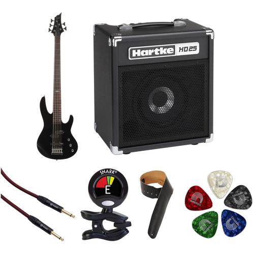 ESP LTD B-55 5-String Electric Bass Starter Kit