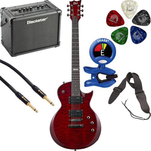 ESP LTD EC-100QM Electric Guitar Starter Kit