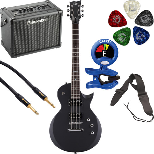 ESP LTD EC-200 Electric Guitar Starter Kit (Black Satin)