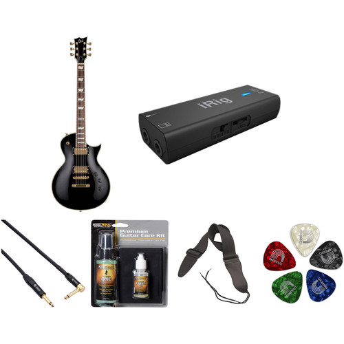 ESP LTD EC-256 Electric Guitar Home Recording Starter Kit (Black)