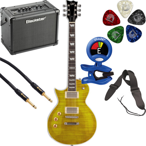 ESP LTD EC-256 Electric Guitar Starter Kit (Left-Handed, Lemon Drop)
