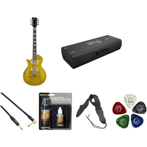 ESP LTD EC-256 Electric Guitar Home Recording Starter Kit (Left-Handed, Lemon Drop)