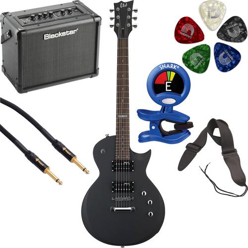 ESP LTD EC-50 Electric Guitar Starter Kit (Black Satin)