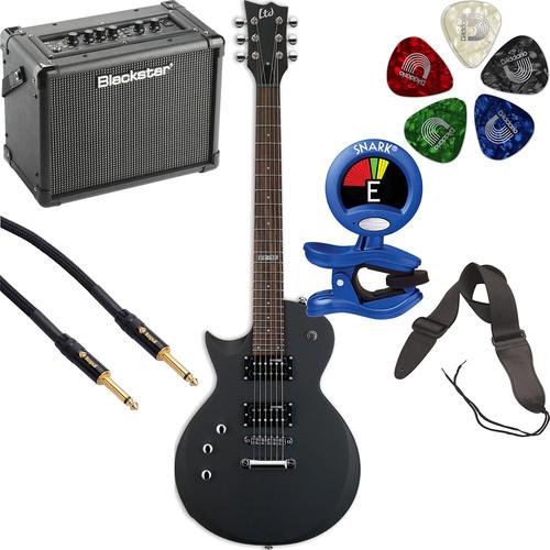 ESP LTD EC-50 Electric Guitar Starter Kit (Left-Handed, Black Satin)