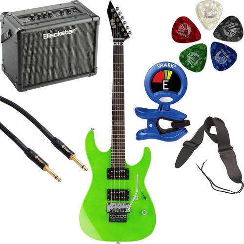 ESP LTD M-50FR Electric Guitar Starter Kit (Neon Green)