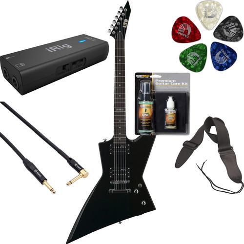 ESP LTD EX-50 Electric Guitar Home Recording Starter Kit (Black)
