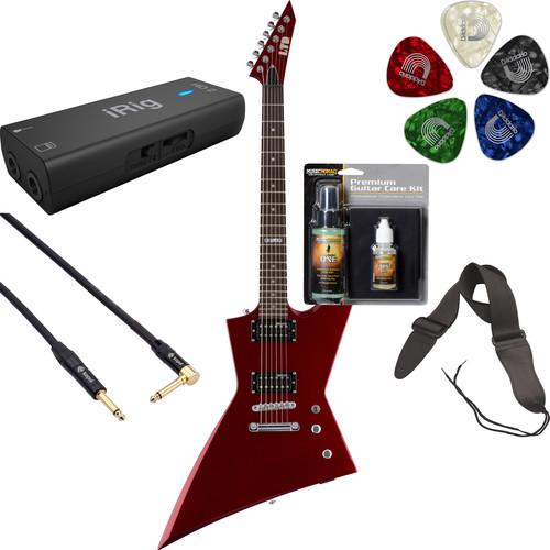 ESP LTD EX-50 Electric Guitar Home Recording Starter Kit (Black Cherry Metallic)
