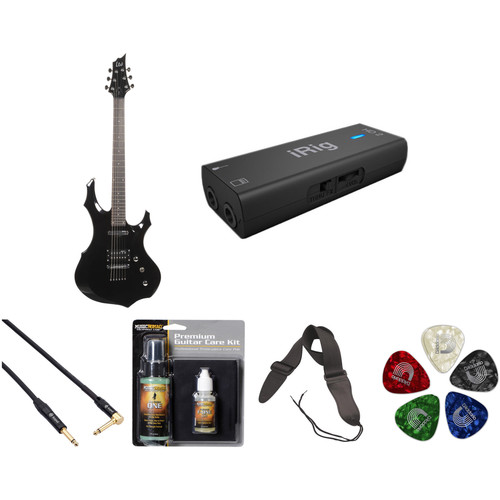 ESP LTD F-10 Electric Guitar Home Recording Starter Kit (Black)