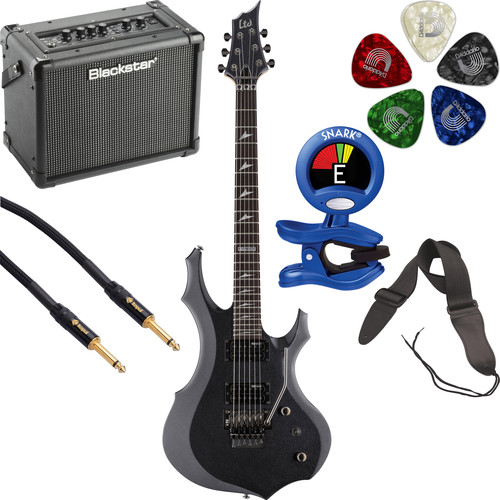 ESP LTD F-200FR Electric Guitar Starter Kit (Charcoal Metallic)