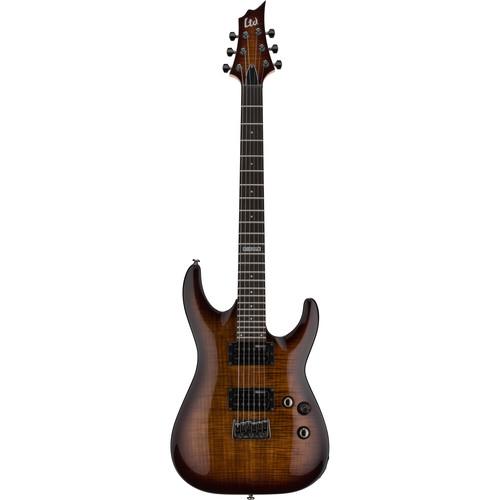 ESP LTD H-101FM Electric Guitar Home Recording Starter Kit (Dark Brown Sunburst)