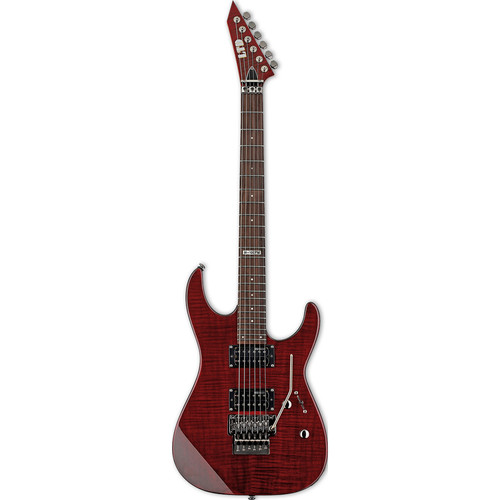 ESP LTD M-100FM Electric Guitar Starter Kit (See-Thru Black Cherry)