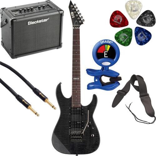 ESP LTD M-100FM Electric Guitar Starter Kit (See-Thru Black)
