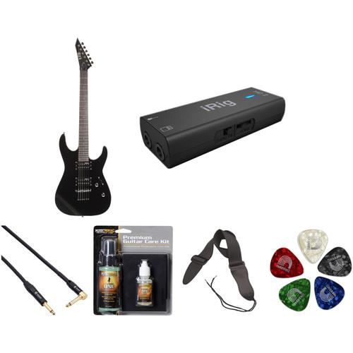 ESP LTD M-10 Electric Guitar Home Recording Starter Kit (Black)
