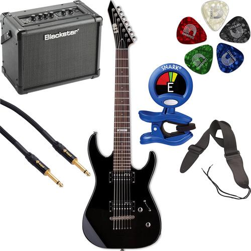 ESP LTD M-17 7-String Electric Guitar Starter Kit (Black)