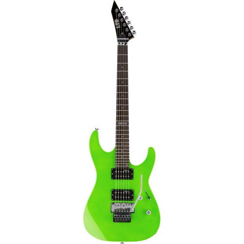 ESP LTD M-50FR Electric Guitar Home Recording Starter Kit (Neon Green)